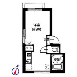 1R Mansion in Nishiikebukuro - Toshima-ku Floorplan