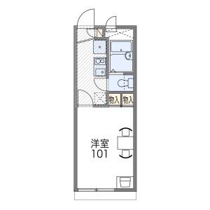 1K Apartment in Kitashirakawa tsutacho - Kyoto-shi Sakyo-ku Floorplan