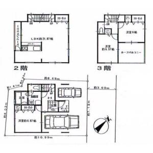 3LDK House in Nishiuraga - Yokosuka-shi Floorplan