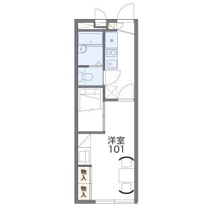 1K Apartment in Fukakusaokamedani anshincho - Kyoto-shi Fushimi-ku Floorplan
