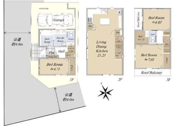 3LDK House to Buy in Shibuya-ku Floorplan