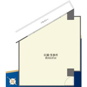 Shop {building type} in Higashigotanda - Shinagawa-ku Floorplan