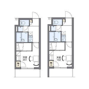 1K 아파트 in Honkomagome - Bunkyo-ku Floorplan