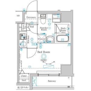 1K Mansion in Idogaya nakamachi - Yokohama-shi Minami-ku Floorplan