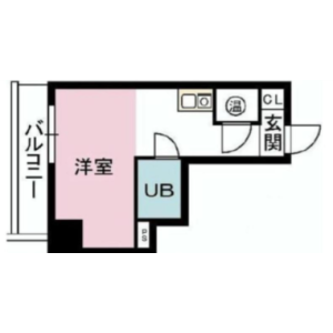1R {building type} in Kudamminami - Chiyoda-ku Floorplan