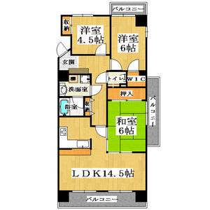 3LDK Mansion in Sekime - Osaka-shi Joto-ku Floorplan