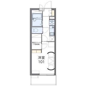 1K Mansion in Shimoozuki - Hadano-shi Floorplan