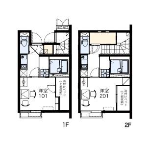 1K Apartment in Naka - Kunitachi-shi Floorplan