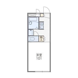 1K 아파트 in Sunagawacho - Tachikawa-shi Floorplan