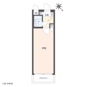 1K {building type} in Higashikanamachi - Katsushika-ku Floorplan
