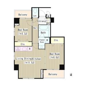 2LDK Mansion in Kameido - Koto-ku Floorplan