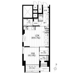 2LDK {building type} in Sanno - Ota-ku Floorplan