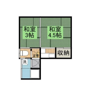 2K Apartment in Kamiikebukuro - Toshima-ku Floorplan