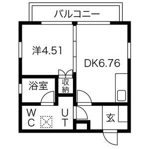 1LDK Apartment in Nishishigacho - Nagoya-shi Kita-ku Floorplan