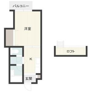 1K Apartment in Kamiokubo - Saitama-shi Sakura-ku Floorplan