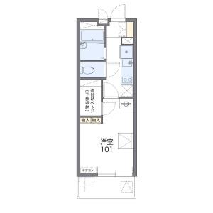1K Apartment in Yamate - Funabashi-shi Floorplan