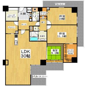 3LDK Mansion in Jusohigashi - Osaka-shi Yodogawa-ku Floorplan