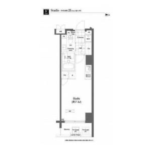 1R Mansion in Ohashi - Meguro-ku Floorplan