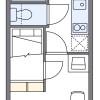 1K Apartment to Rent in Kasukabe-shi Floorplan