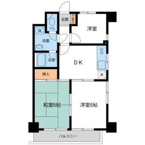 3DK Mansion in Nishikasai - Edogawa-ku Floorplan