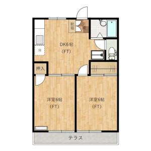 2DK Apartment in Suwa - Kawasaki-shi Takatsu-ku Floorplan