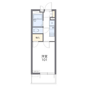 1K Mansion in Shioyaki - Ichikawa-shi Floorplan