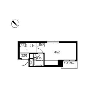 1R Mansion in Fujimicho - Tachikawa-shi Floorplan