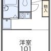 在福生市内租赁1K 公寓 的 楼层布局