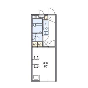 松戸市松飛台-1K公寓 楼层布局