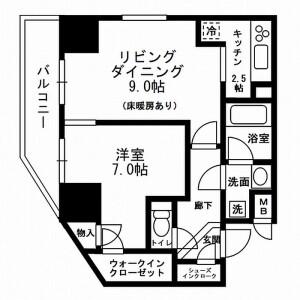 1LDK Mansion in Machiya - Arakawa-ku Floorplan