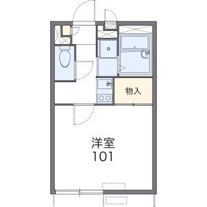 1K 아파트 in Kamiarai - Tokorozawa-shi Floorplan