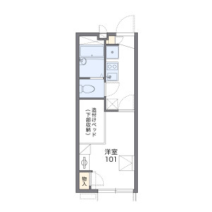 1K Apartment in Nagahama - Maizuru-shi Floorplan