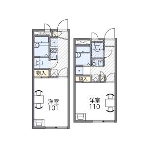 1K Apartment in Himeshima - Osaka-shi Nishiyodogawa-ku Floorplan