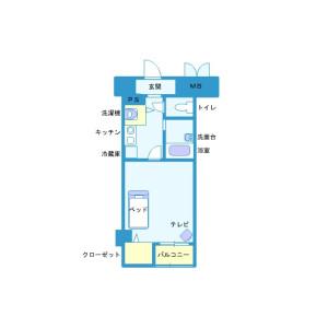 1K Mansion in Yoyogi - Shibuya-ku Floorplan