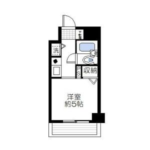 1K Mansion in Chuo - Yokohama-shi Nishi-ku Floorplan