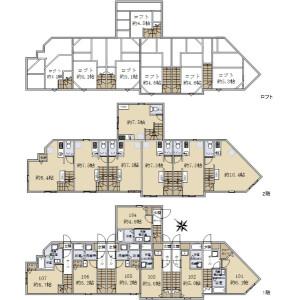 Whole Building {building type} in Chidori - Ota-ku Floorplan