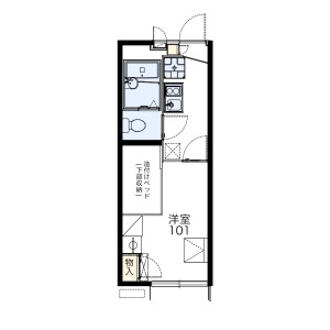 1K Apartment in Hoshigaoka - Hirakata-shi Floorplan