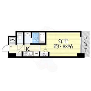 1K Mansion in Nishitemma - Osaka-shi Kita-ku Floorplan