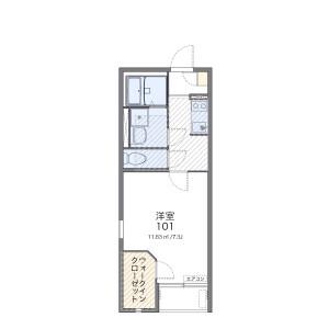 1K Apartment in Higashimatsuyama-shi Floorplan