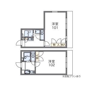 1K Apartment in Yasunaga - Kuwana-shi Floorplan