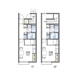 1K Apartment in Kawagecho ueno - Tsu-shi Floorplan