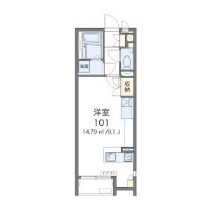 1R Apartment in Nishitokorozawa - Tokorozawa-shi Floorplan