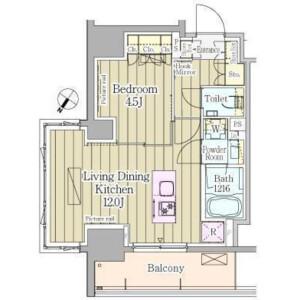 1LDK Mansion in Kamiyamacho - Shibuya-ku Floorplan
