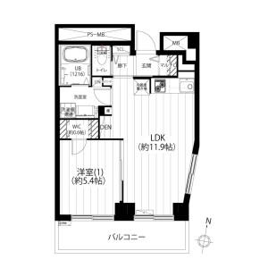 1LDK {building type} in Nishikata - Bunkyo-ku Floorplan