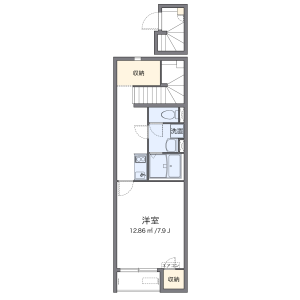 1K Apartment in 南町田 - Machida-shi Floorplan