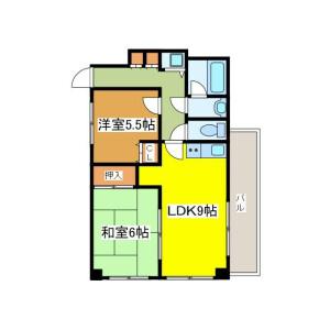 2LDK Mansion in Shiraitodai - Fuchu-shi Floorplan