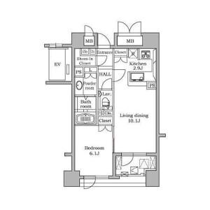 1LDK Mansion in Daikanyamacho - Shibuya-ku Floorplan