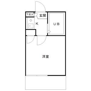 世田谷区 豪徳寺 1K アパート 間取り