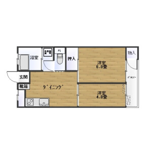 2DK Mansion in Chuo - Ota-ku Floorplan