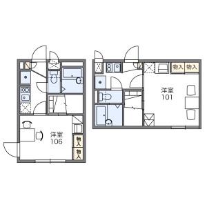 1K Apartment in Okurayama - Yokohama-shi Kohoku-ku Floorplan